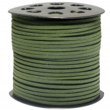 Faux Suede Cord (3 mm) Cactus Green (91 Meter)