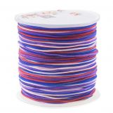 Nylon Cord (1 mm) Mix Color - Berries (100 Meter)