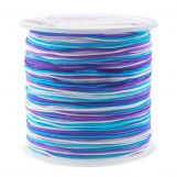 Nylon Cord (1 mm) Mix Color - Shades of Blue (100 Meter)