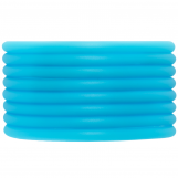 Rubber Cord (4 mm) Sky Blue (5 Meter) hollow inside