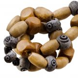 Bead Mix - Bone Beads (7 x 5 mm) Rocky (21 pcs)