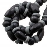 Bead Mix - Bone Beads (6 x 3 mm) Grey (85 pcs)