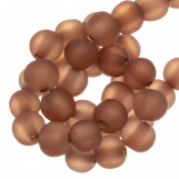 Resin Beads Mat (9 mm) Coqnac Brown (25 pcs)