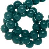DQ Glass Beads (8 mm) Petrol Blue (75 pcs)