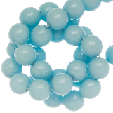 DQ Glass Beads (8 mm) Soft Blue (75 pcs)