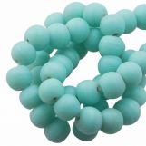 Glass Beads Matt (8 - 9 mm) Teal (28 pcs)