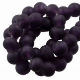Glass Beads Matt (6 - 7 mm) Eggplant (35 pcs)