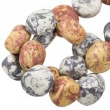 Ceramic Beads (16 x 8 mm) Earth Stone (13 pcs)