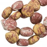 Ceramic Beads (16 x 8 mm) Sandy Brown (13 pcs)