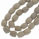 Ceramic Beads (11 x 10 mm) White Smoke (18 pcs)