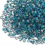 Miyuki Delica (11/0 mm) Marine Blue Lined Crystal AB (10 Grams)