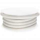 DQ Leather Regular (4 mm) White (2.5 Meter)