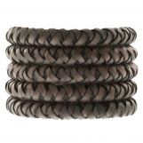 DQ Braided Leather (7 mm) Taupe (1 Meter)