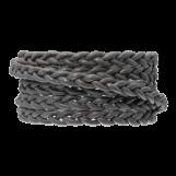 DQ Flat Braided Leather Regular (6 x 3.5 mm) Warm Grey (1 Meter)