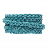 DQ Flat Braided Leather Regular (6 x 3.5 mm) Sky Blue (1 Meter)