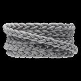 DQ Flat Braided Leather Regular (6 x 3.5 mm) Light Grey (1 Meter)