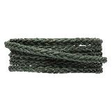 DQ Braided Leather Regular (4 mm) Safari Green (1 Meter)