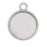 Setting 1 Eye (12 mm) Antique Silver (10 pcs)