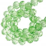 Faceted Rondelle Beads (4 x 6 mm) Bright Green (90 pcs)