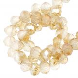 Faceted Rondelle Beads (4 x 6 mm) Sepia (90 pcs)