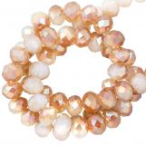 Faceted Rondelle Beads (2 x 3 mm) Bright Sepia (130 pcs)