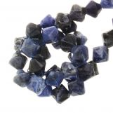 Sodalite Bicone Beads (6 mm) 62 pcs