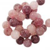 Strawberry Quartz Beads (8 mm) 50 pcs