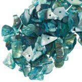Shell Beads (18 - 5 mm) Light Sea Green (25 gram / ca. 70 pcs)
