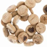 Coconut Beads (10 x 4 mm) Natural (40 pcs)