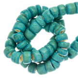 Coconut Beads (4 - 5 mm) Turquoise (110 pcs)