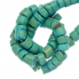 Coconut Beads  (4 - 5 mm) Turquoise (120 pcs)