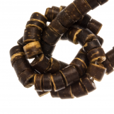 Coconut Beads (4 - 5 mm) Natural Brown (120 pcs)