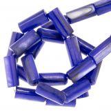 Shell Beads (10 x 4 mm) Blue (36 pcs)