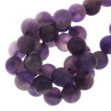 Amethyst Frosted Beads  (6 mm) 60 pcs