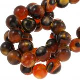 Resin Beads (8 mm) Orange Brown (15 pcs)
