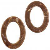 Acrylic Rings (37 x 28 x 3.5 mm) Brown (25 pcs)