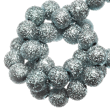 Acrylic Beads Stardust (8 mm) Mist Blue (180 pcs)