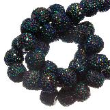 Acrylic Beads Rhinestone (8 mm) Shine Mix Black (25 pcs)