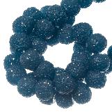 Acrylic Beads Rhinestone (8 mm) Cobalt Blue (25 pcs)