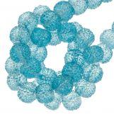 Acrylic Beads Rhinestone (8 mm) Transparent Blue (25 pcs)