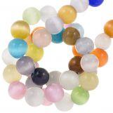 Glass Beads Cat's Eye (6 mm) Mix Color (65 pcs)