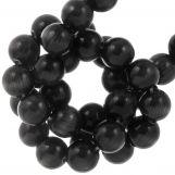 Glass Beads Cat's Eye (6 mm) Black (65 pcs)