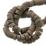 Polymer Beads (6 x 3 mm) Dark Khaki (115 pcs)