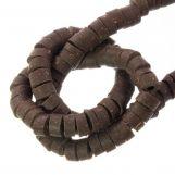 Polymer Beads (6 x 3 mm) Earth Brown (115 pcs)