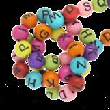 Acrylic Mix Letter Beads (7 x 8 mm) Mix Color (200 pcs)