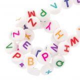 Acrylic Mix Letter Beads (7 x 4 mm) Mix Color (350 pcs)