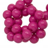 Acrylic Beads (10 mm) Candy Pink (90 pcs)