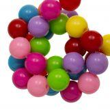 Acrylic Beads (10 mm) Mix Rainbow (90 pcs)