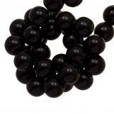 Acrylic Beads (6.5 mm) Black (100 pcs)
