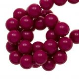 Acrylic Beads (10 mm) Dark Fuchsia (90 pcs)